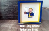 Fallout linogravure réduction Print