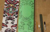 Pochoir Art de skateboard
