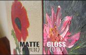 Comment faire la différence entre une huile et une peinture acrylique