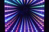32 LED, LED infini miroir motifs sélectionnables, encadrement de qualité