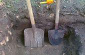 Comment faire pour creuser un trou de la main
