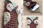 Tricoter chouette téléphone agréable