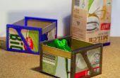 Boîtes de vache - recycler le lait-cartonway