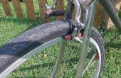 Vieux vélo, roues neuves - la construction d'un boulon de goutte pour adapter les freins.