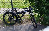 Installation rack Racktime Add-it sur une bicyclette Shocke Spark