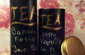 Boîtes à thé upcycled Chalkboard