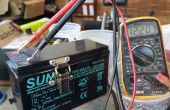 12V 3 s batterie lithium-ion à l'aide d'une batterie au plomb 7ah.