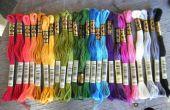 Organiser un nombre déraisonnable de broderie soie couleurs