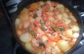 Ragoût de pommes de terre-poulet