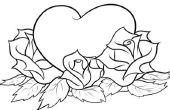 Comment dessiner un coeur avec roses
