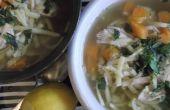 Ma soupe de nouilles de poulet maison ultime aux carottes, citron et aneth