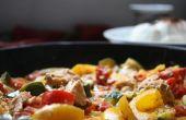 Ragoût de légumes simple avec le saumon.