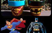 Super-héros Logo peint Pots