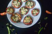 Sans farine oeufs Mini plante Pizzas