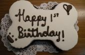 Gâteau d'anniversaire de chiot !