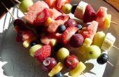 Fruits surgelés salade & brochettes de Nutella bananes congelées - délicieux, délicieux !
