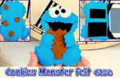 BRICOLAGE, mobile étui comme le Cookie Monster, artisanat simple