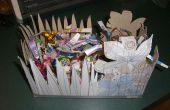 Faire un panier de Pâques à partir de matériaux trouvés dans la poubelle