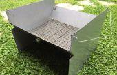 Charbon de bois BBQ Camping (léger, portable, pliable)