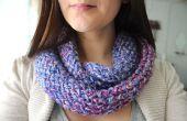 Comment tricoter un foulard infini sur un métier à tisser