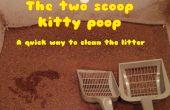 2 scoop méthode de merde de kitty - un moyen très rapide de nettoyer la litière pour chat