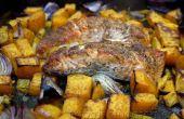 Rôtie au four saumon sur un lit de légumes avec du quinoa !