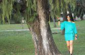 Comment faire un hors de l'épaule manches longues robe avec ceinture