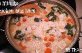 Soupe de poulet et riz en 30 Minutes