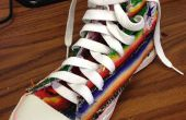 Mexicain couverture patché et brodé Converse haute Top Sneakers