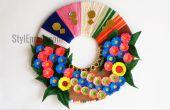 Idée de décoration murale bricolage : Comment faire une guirlande de papier pour la décoration de la maison