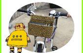 Super Deluxe Custom Bike panier pour moins 5,00 $, (à l'aide de carton, fil & du ruban adhésif)