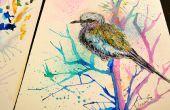 Comment peindre à l'aquarelle, les oiseaux