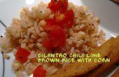 Coriandre Chili Lime riz brun avec du maïs