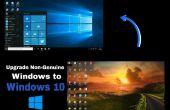 Mise à niveau de Windows 10 de Non-Genuine Windows 7, 8, 8.1 (sans utiliser de clé de produit)