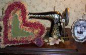 Comment faire un oreiller coeur Raggedy Vintage