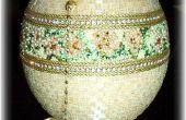 Boîte à bijoux perles autruche