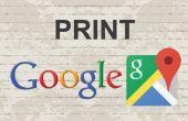 Imprimer les cartes de Google