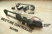 GESTE contrôlé Arduino basé Rover (Wireless + ligne suivante)