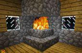 Comment faire une cheminée qui ne sera pas brûler votre maison dans Minecraft
