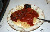 Slow cooker spaghetti et boulettes de viande
