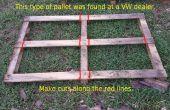 Rack de stockage de bois de chauffage d'un palettes... super simple