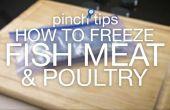 Comment faire pour congeler les poissons, viandes & volailles