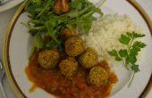 Boules d'arachide - une solution de rechange aux boulettes de viande végétalien facile