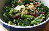 Chou frisé et salade de Quinoa