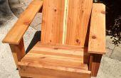 Chaise longue de jardin moderne