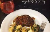 Côtelettes de porc poêlé (longe) aux légumes Stir Fry