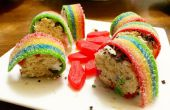 Colorful sushis Dessert [faits avec rice krispies]