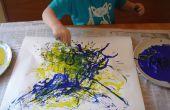 Comment utiliser les spaghetti de peindre comme Jackson Pollock