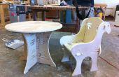 Bois Table et chaise avec Joints seulement
