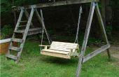 Faire une vieille balançoire dans une personne deux suspendus swing